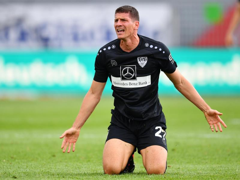 Stuttgarts Mario Gomez blieb in Kiel erfolglos. Foto: Stuart Franklin/Getty Images Europe/Pool/dpa                                 Stuart Franklin